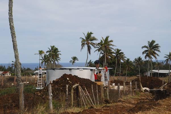 Tonga Water tank long image