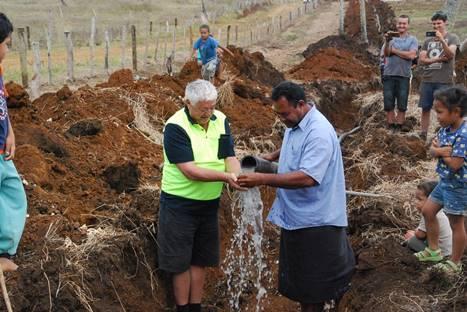 Tonga water tank donation