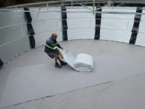 geotextile underlay is an important protection layer for your water tank
